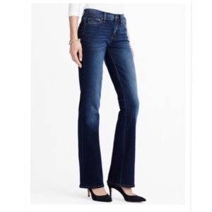 J. Crew Factory Boot Cut Blue Wash Stretch Jean
